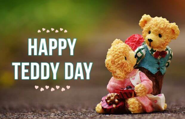 Happy Teddy Day cute wish image for your gorgeous from your boy