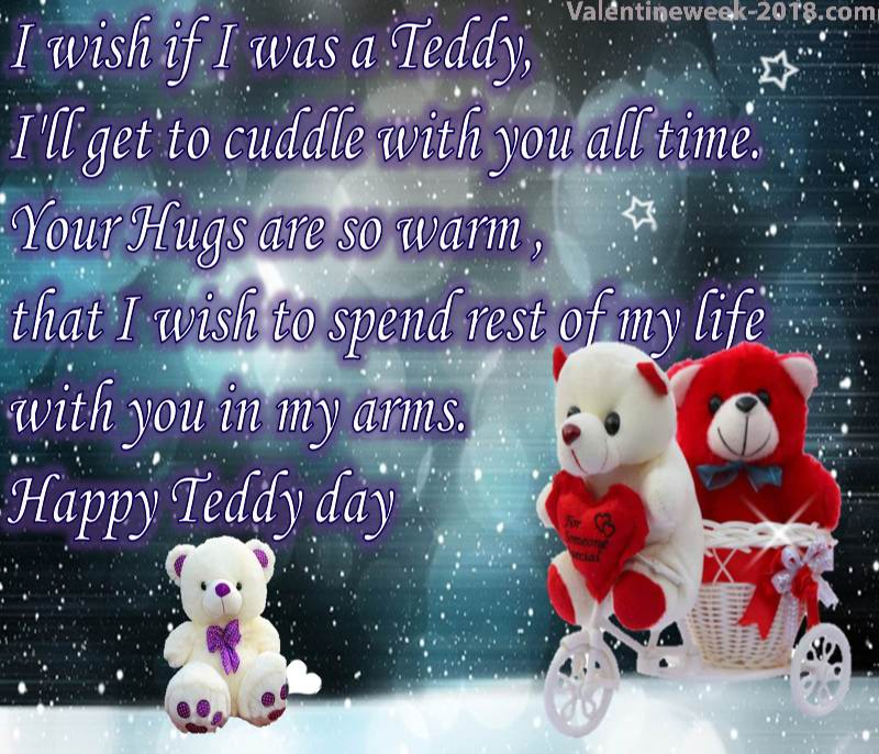 Happy Teddy Day dashing images about your valentine with full love and clear pic