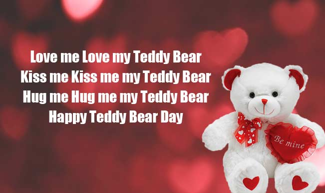 Happy Teddy Day new be mine teddy bear poem image for dear love