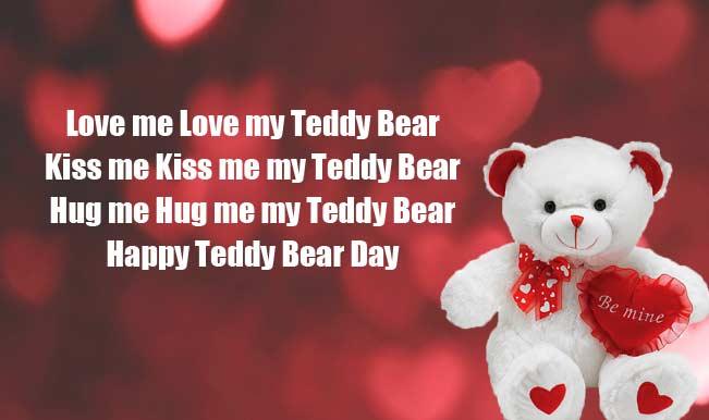 Happy Teddy Day new be mine teddy bear poem image for dear love