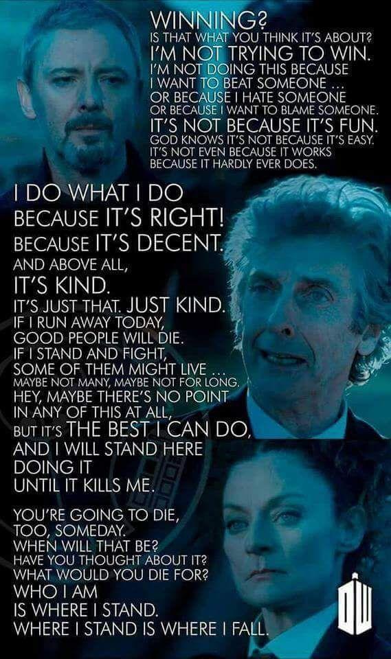 I Do What I Do Doctor Who TV Show Quotes