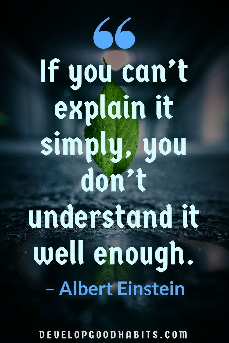 If You Can't Explain It Education Quotes