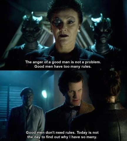 The Anger Of A Good Doctor Who TV Show Quotes
