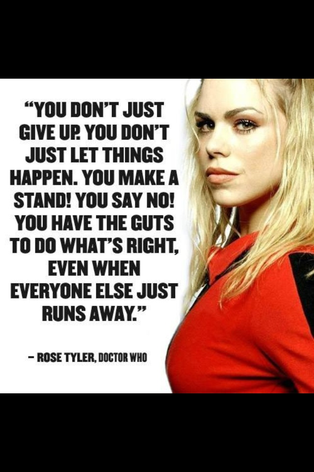 You Don't Just Give Up Doctor Who TV Show Quotes