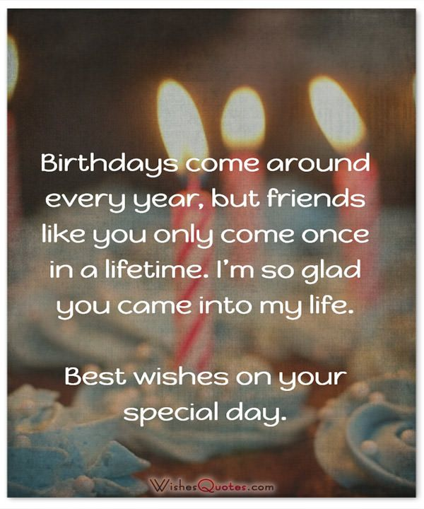 Birthday come around every year, Best wishes on your special day quote