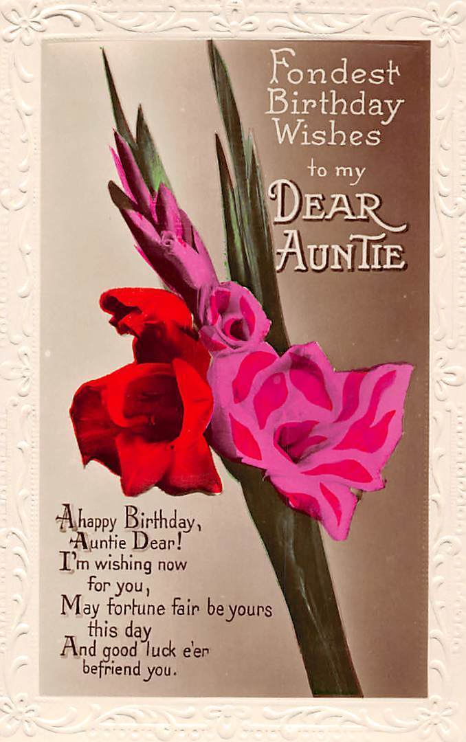Fondest Birthday wishes to my dear Auntie gorgeous greeting messages wishes