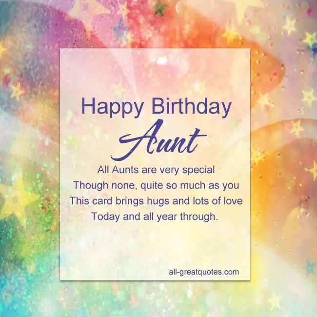 Happy Birthday Aunt all aunts are very special fabulous greetings quote wishes