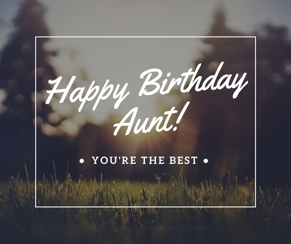 Happy Birthday Aunt you're the best blessings for her with wonderful wallpaper