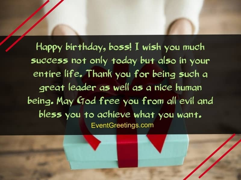 Happy Birthday Boss I wish you much success fabulous messages wishes