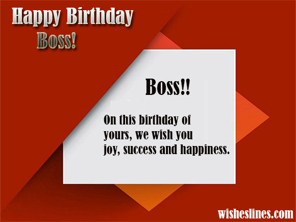 Happy Birthday Boss in this birthday of yours best wishes with greeting card