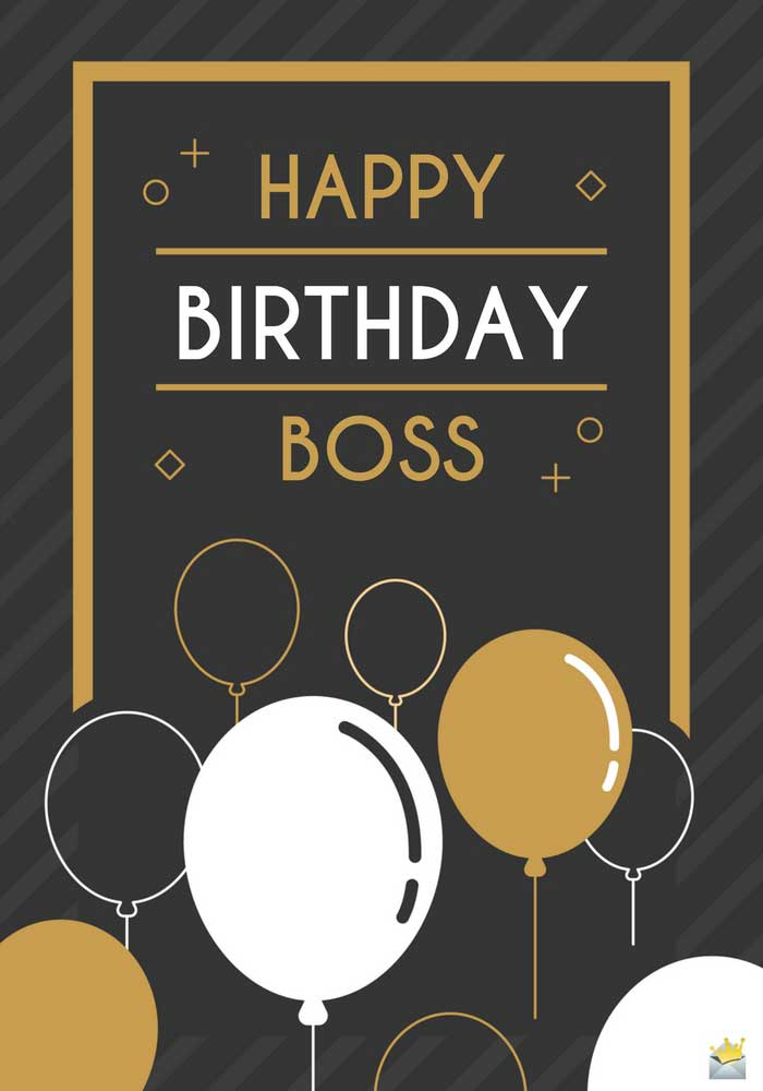 Happy Birthday Boss unique greeting card wishes
