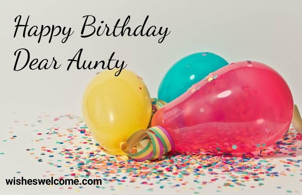 Happy Birthday Dear Aunt fantastic wishes wallpaper