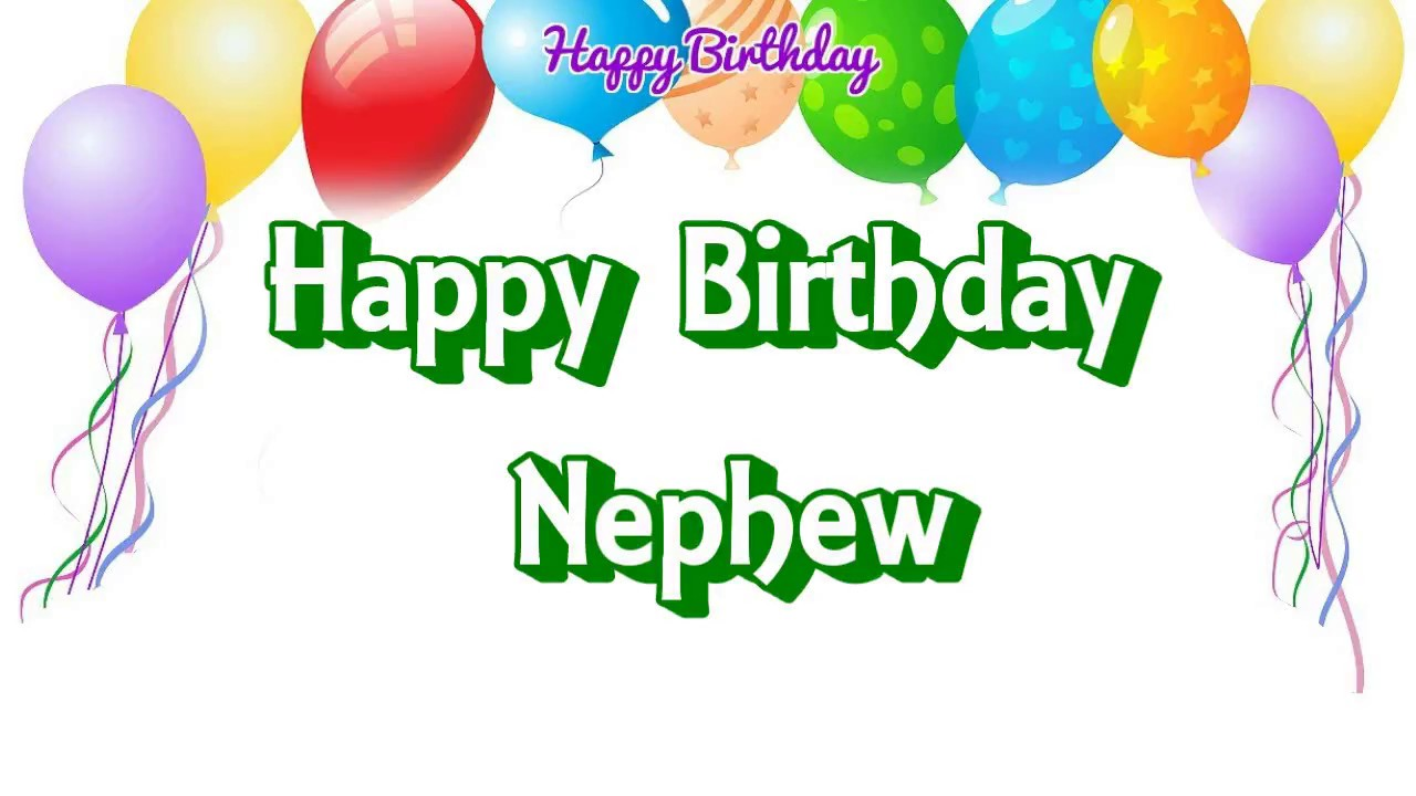 Happy Birthday Nephew simple wishes wallpaper