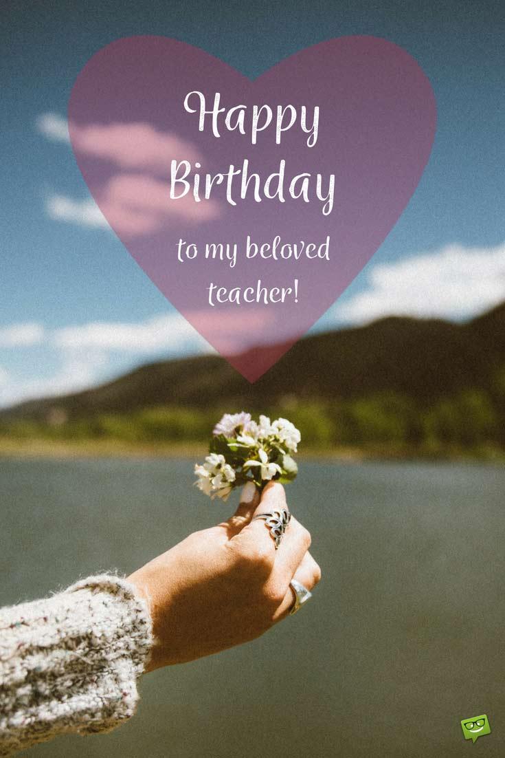 Happy Birthday Teacher wishes wallpaper greetings