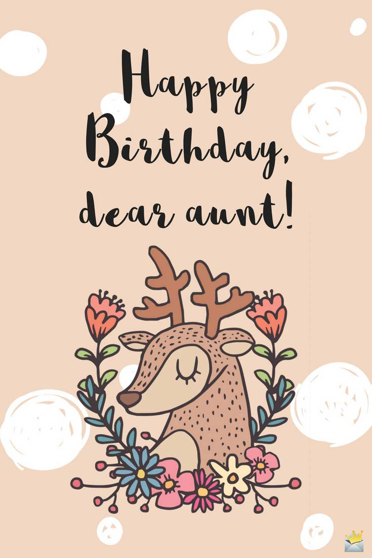 Happy Birthday dear Aunt wonderful wishes message for you