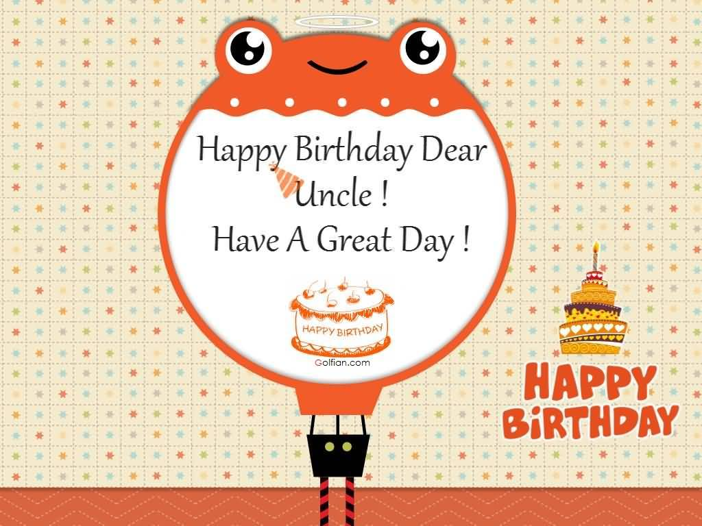 Happy Birthday dear  Uncle have a great day beat background wishes image to you