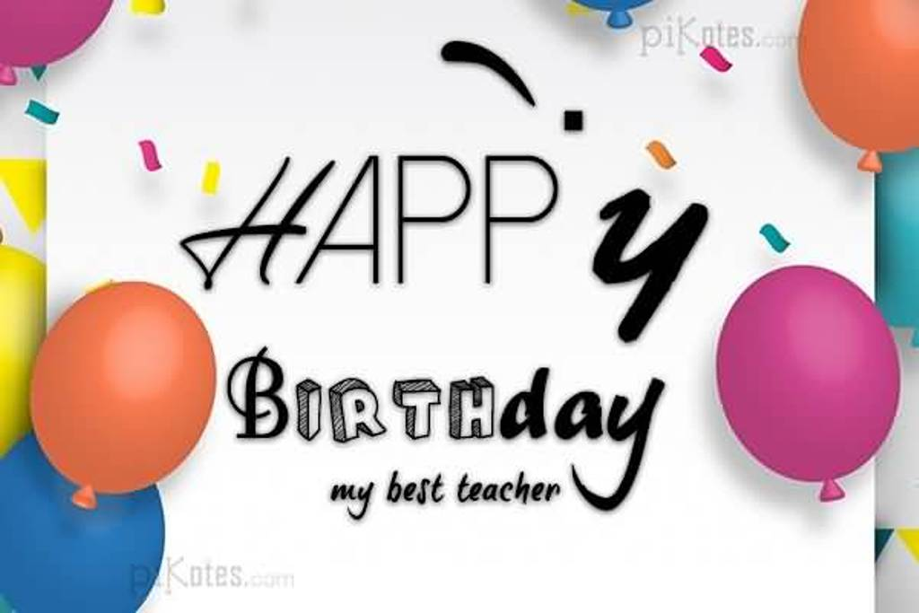 Happy Birthday my best Teacher awesome wallpaper wishes