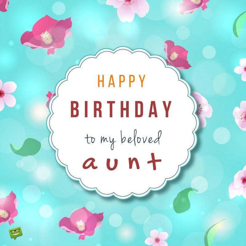 Happy Birthday to my beloved Aunt best background wallpaper wishes