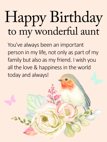 Happy Birthday to my wonderful  Aunt cute greetings for her