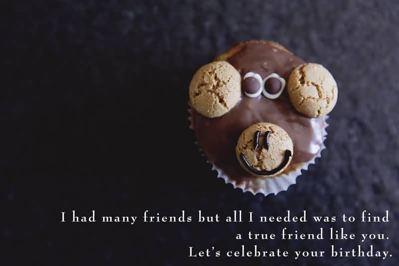 I had many friends but all I Happy Birthday Best Friend lovely cookie wishes image with blessing