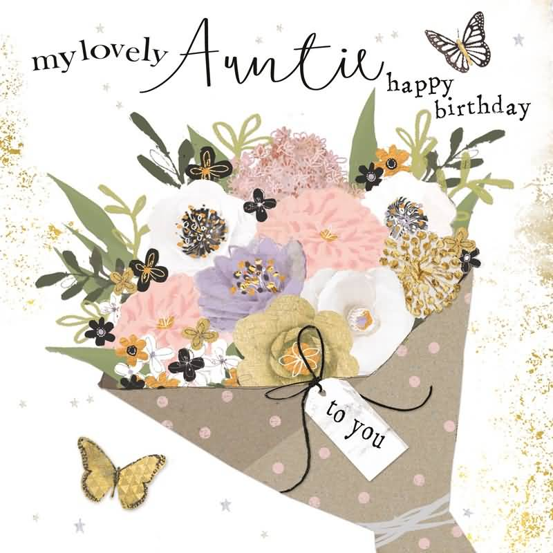 My lovely auntie happy birthday to you new perfect flower greeting message wishes
