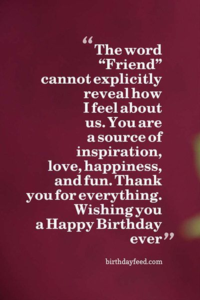 The word friend cannot explicitly wishing you a Happy Birthday ever wonderful meaning greeting wishes