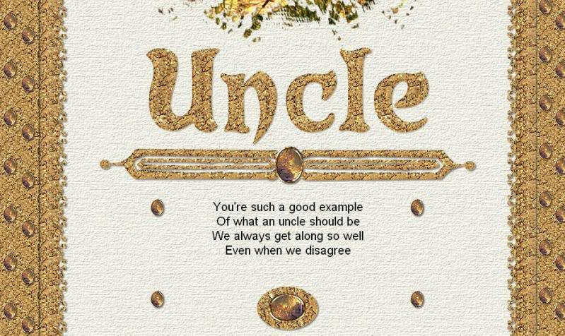 Uncle you're such a good example of what an uncle should be great message wishes to him