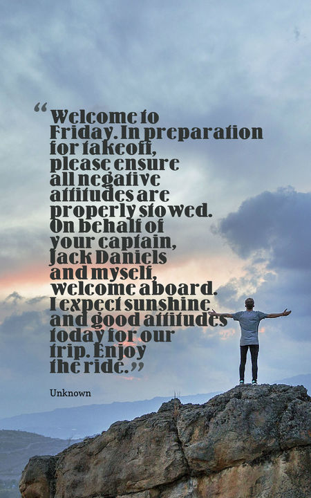 Welcome To Friday In Friday Quotes