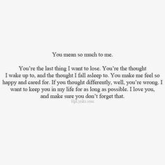 You Mean So Much To Me Mcm Quotes