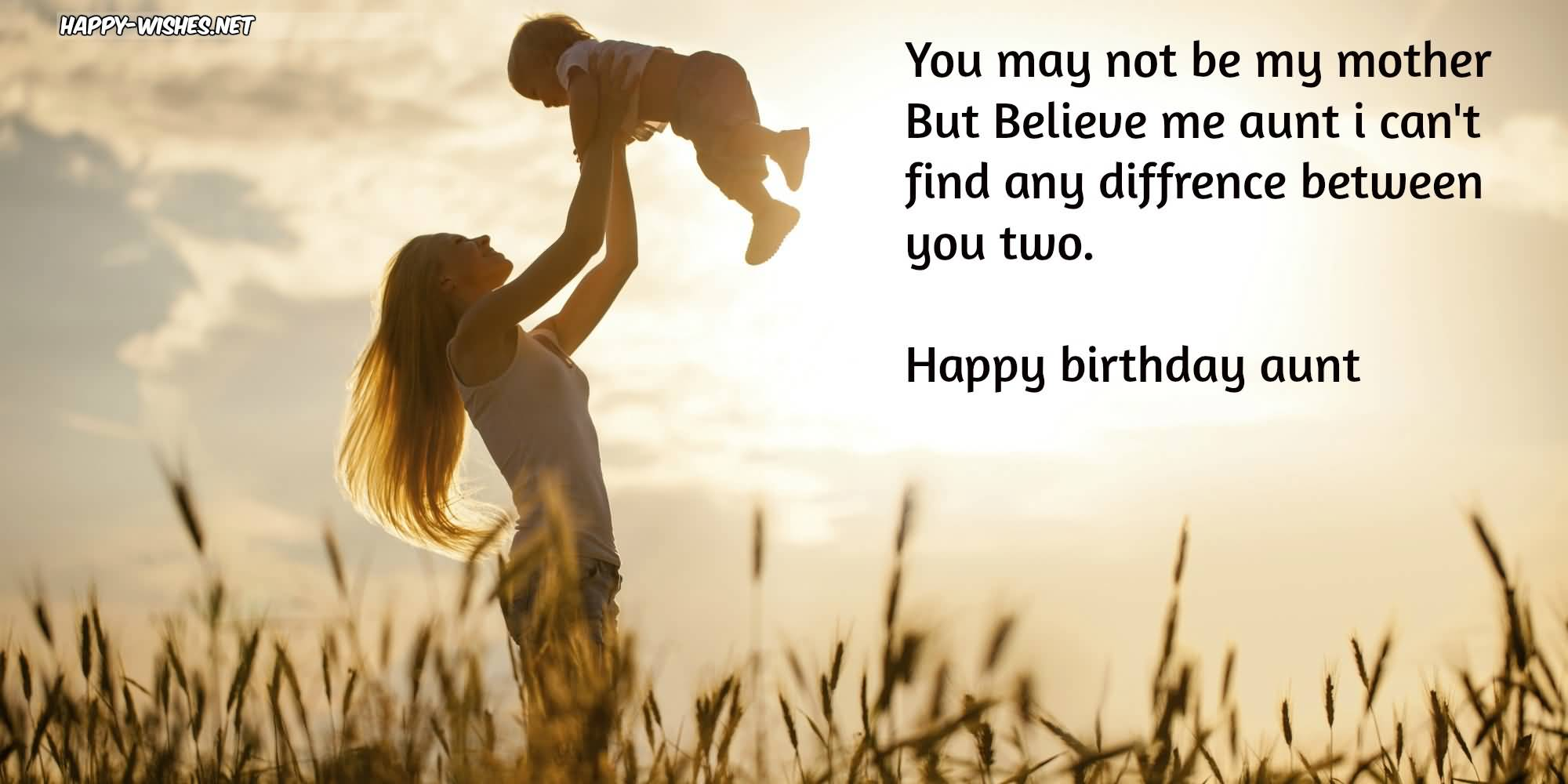 You may not be my mother but Happy Birthday Aunt inspirational wishes for her