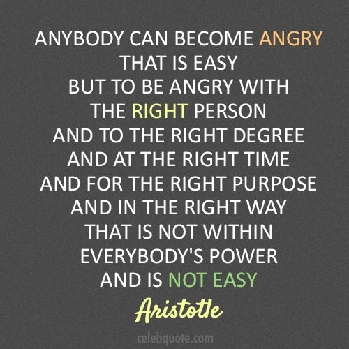 Anybody Can Become Angry Emotional Quotes