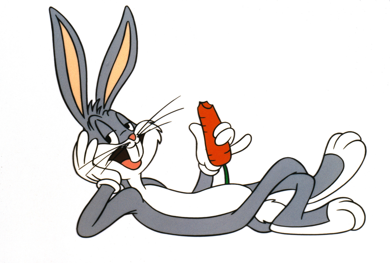 Bugs Bunny Laying And Eating Carrot