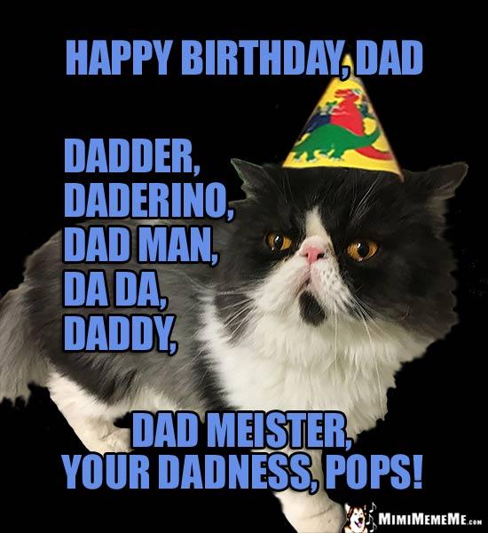 Dadder Daderino Dad Man Happy Birthday Dad Meme