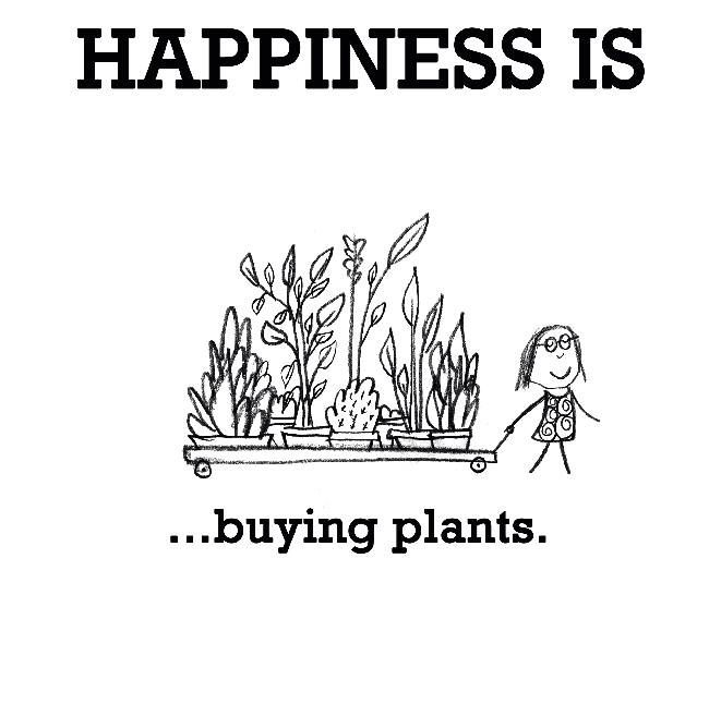 Happiness Is Buying Plants Plant Quotes