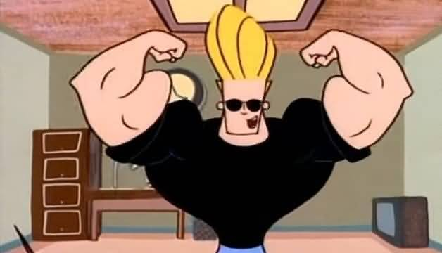 Huge Biceps Of Johnny Bravo