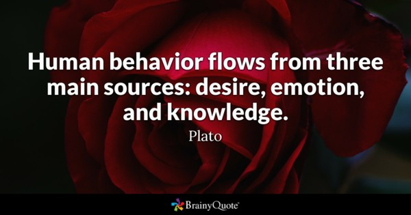 Human Behavior Flows From Emotional Quotes