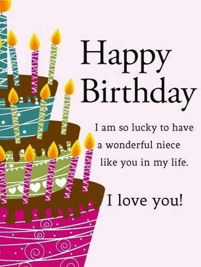 I Am So Lucky Happy Birthday Niece