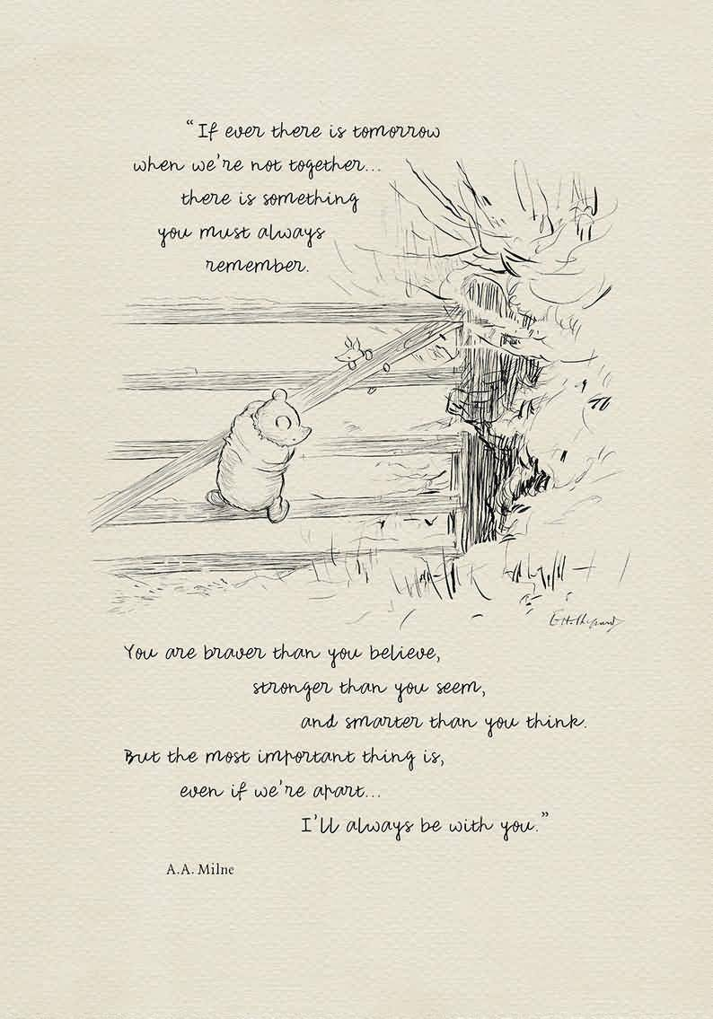 If Ever There Is Tomorrow Winnie The Pooh Quotes