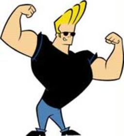 Johnny Bravo Posing For Shoot