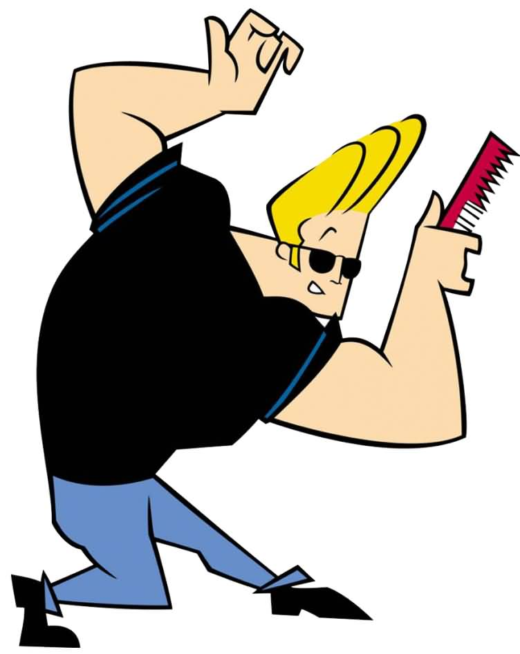 Johnny Bravo Styling Hair