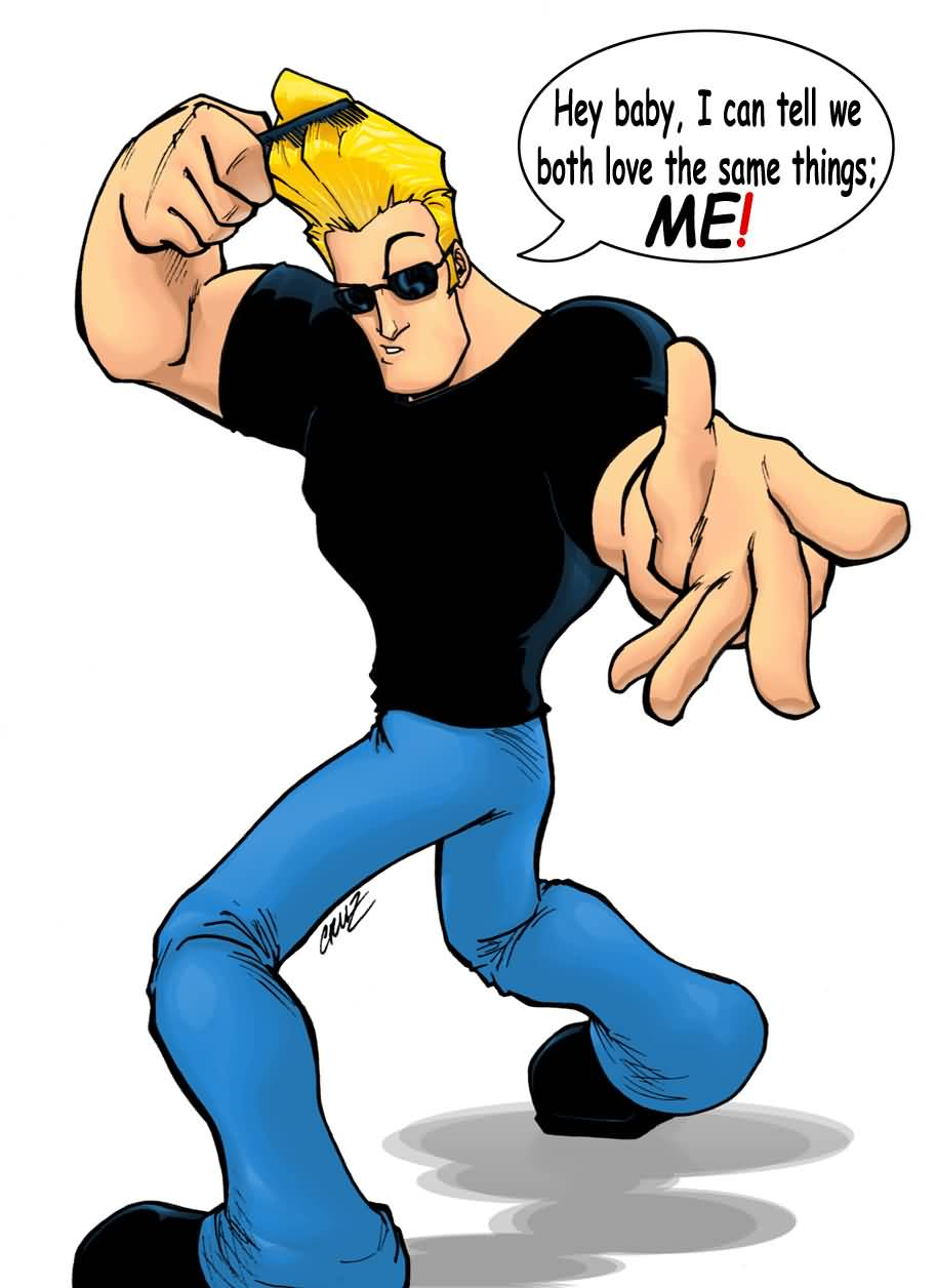 Johnny Bravo With Comb