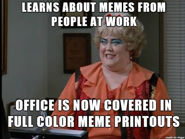 Learns About Memes From Coworker Birthday Meme