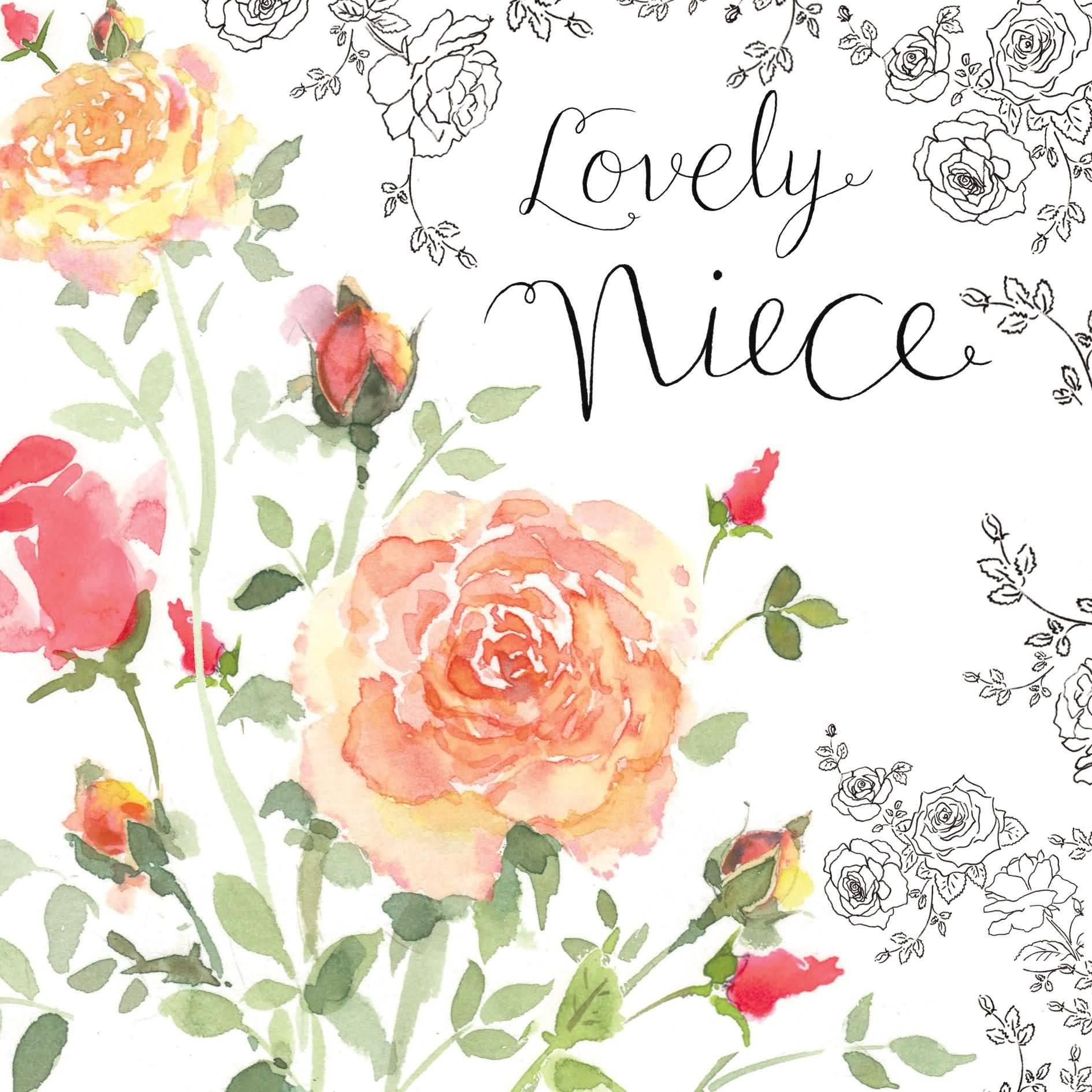 Lovely Rose Birthday Wish For Niece Happy Birthday Niece