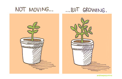 Not Moving But Growing Plant Quotes