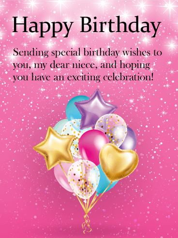 Sending Special Birthday Wishes Happy Birthday Niece