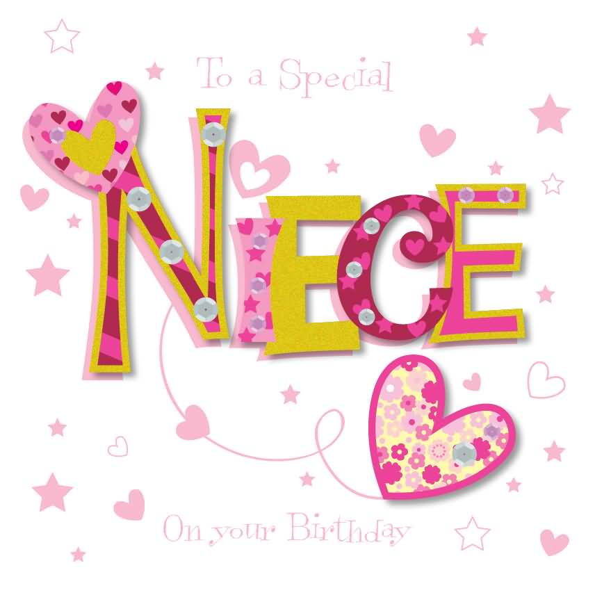 To A Special Niece On Happy Birthday Niece