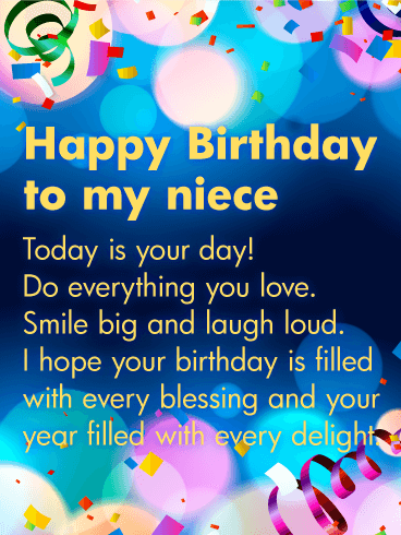 Today Is Your Day Happy Birthday Niece