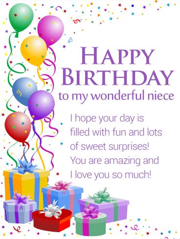 You Are Amazing Niece Happy Birthday Niece