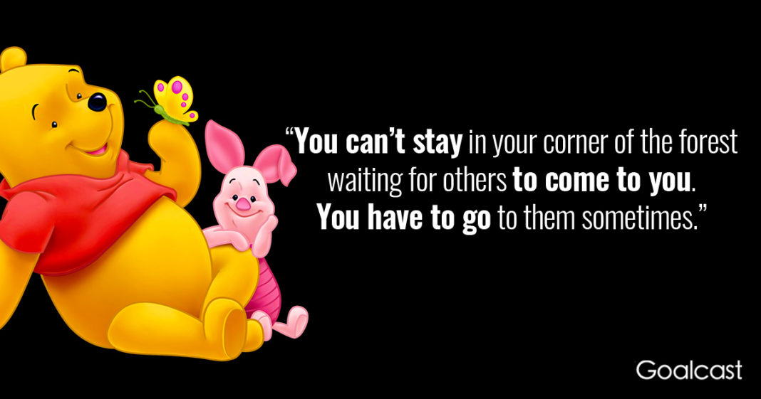 You Can't Stay In Your Winnie The Pooh Quotes