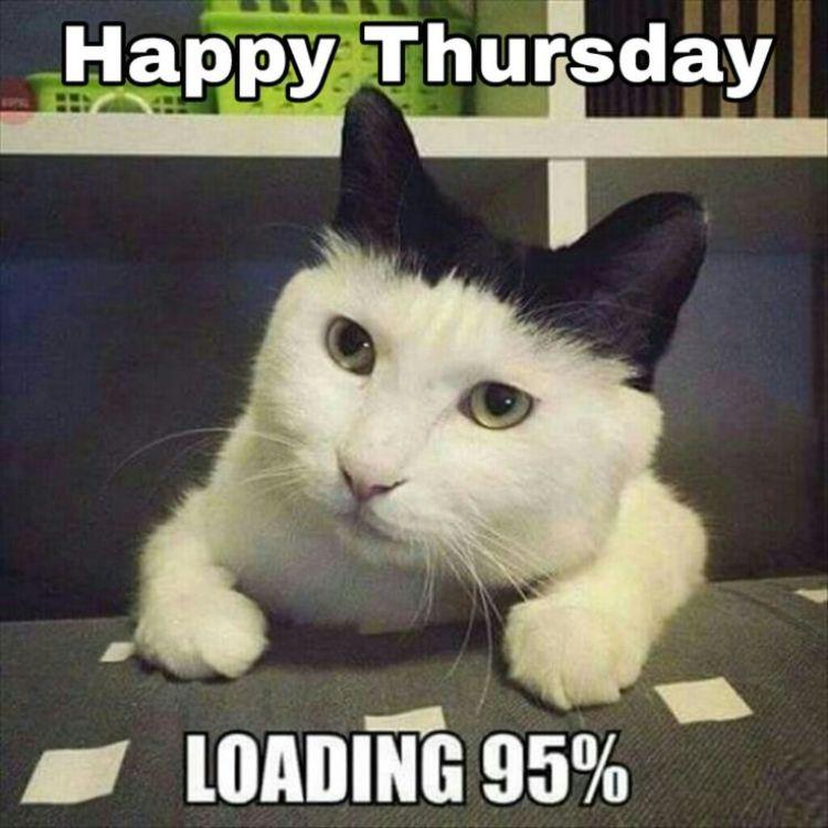Happy Thursday Loading 95% Thursday Meme